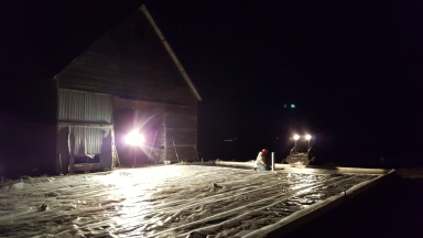 Prepping for pouring a heated concrete pad - vapor barrier
