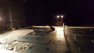 Prepping for heated concrete - styrofoam